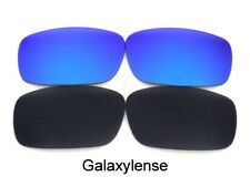 Galaxy Replacement Lenses For Oakley Square Whisker Sunglasses Black/Blue