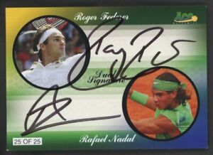 2010 Ace Authentics Tennis Roger Federer Rafael Nadal Dual AUTO 25/25