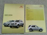 Kia Sorento XS/XT & Sportage 2.0 16v/2.0 CRDi/2.7 V6 UK Brochure 2006-2007