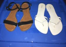 Women's (2) Flat SANDALS SHOES Size 8