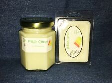 NEW Hand Poured Citrus Fruit Scented Soy Candles Tarts & Votives - White Citrus