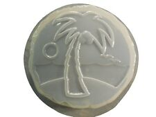 Palm Tree and Beach Stepping Stone Plaster or Concrete Mold 1302 Moldcreations