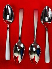 Oneida Deluxe Teaspoon 155655 593 Stainless Frosted Diamond Lot of 4 Spoons