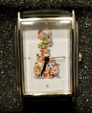 Rare Womens Vintage Disney Snow White Watch by Relic, 7 Dwarfs w/Christmas Tree