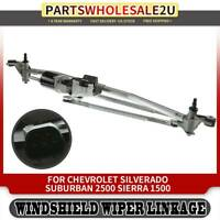 Wiper Transmission with Motor for Chevy SilveradoTahoe GMC Cadillac 2007-2014