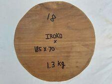 Iroko Woodturning Bowl Blank / 185 x 70 / Ready To Turn / (18)