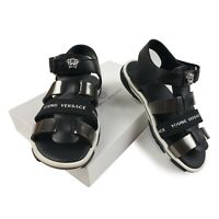 NEW Young Versace RRP £205 Kids Designer Shoes Sandals Slippers AGE 6Y SIZE 29