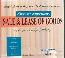 Sum and Substance Audio on Sale and Lease of Goods, Whaley, Douglas, Good Book
