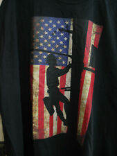 Telephone Lineman With Distressed Look American Flag Port & Co. Size 3Xl Nwot
