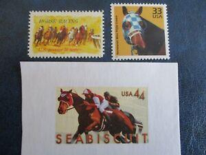 HORSE RACING U.S. STAMPS