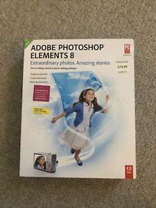 Adobe Photoshop Elements 8 2009 PC Used MINT DISC