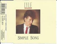 LYLE LOVETT - Simple song CD SINGLE 4TR (BENELUX RELEASE) 1988 CURB RECORDS