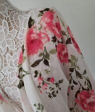 NWT LuLaRoe Shirley Large 💕 Pink Vintage Roses White STUNNING Kimono !!