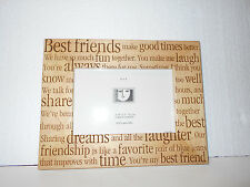 "New wood 4"" X 6"" Amerigo Best Friends make good times Sharing picture frame"