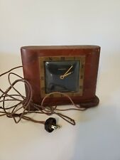 VINTAGE WALTHAM ELECTRIC SHELF CLOCK WOOD WITH METAL MANTLE  Parts