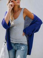 Women's Open Front Sweater Coats Long Sleeve Cardigan Loose Jacket Coat Tops
