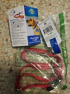 """New RED PetSafe Martingale Collar with Quick Snap Buckle 3/4"""" Medium"""