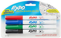 Sanford Expo Low Odor Dry Erase Markers Ultra Fine Tip Precise Writing 4 Colors