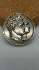 Medaille jeton mariage napoleon et MARIE LOUISe 1810 ARGENT andrieu ttb+