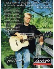 2000 LARRIVEE Acoustic Guitar SHANE MARTIN Vtg Print Ad