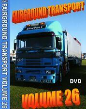 NEW FAIRGROUND TRANSPORT VOLUME 26 DVD SHOWMANS FUNFAIR ERF TRUCKS ETC