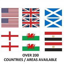 Pack of 50 Flags of The World, 20mm x 12mm Sticker / Decals, Any Country / Area