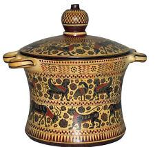 Ancient Greek Corithian Pyxis Vase Museum Replica Reproduction