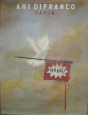 ANI DIFRANCO Canon promotional poster, 2007, 18x24, dove w/Bang flag, EX!
