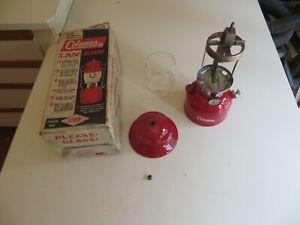 Vintage Coleman Model 200A195 Gas Lantern Red 9/1964 Single Mantle Original Box