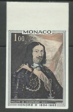 Monaco Tableaux Honore II Painting Gemalde Essai Imperf Proof Probedruck ** 1969