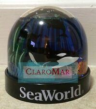 ☀ NEW Sea World SHAMU Killer Whale Refillable Snow Water Globe Souvenir Keepsake