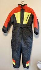 Vintage Ski Suit XL 18-20 Snowsuit One-piece Snow Boy Girl Youth Black Red Yello