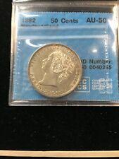 1882(H)  CCCS Graded Newfoundland,  ¢50 Cent, **AU-50**
