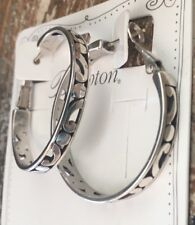 Brighton Silver large CONTEMPO HOOP earrings NWT Earring