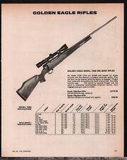 1978 GOLDEN EAGLE Model 7000 Big Bore Rifle AD w/ Grade I Specs