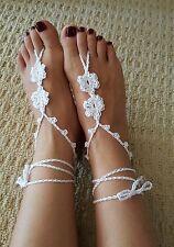 Handmade Adult Girl bridal beach wedding Barefoot sandals foot accessories