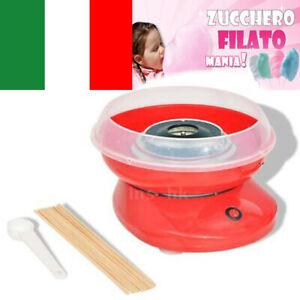 Macchina per lo Zucchero Filato Cotton Candy Bastoncini Feste 480 W Rossa