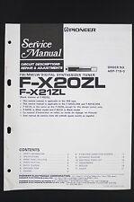 Pioneer F-X20ZL Manuel de Service / Circuit Descriptions Réparation &
