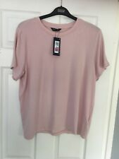 MARKS & SPENCER WOMENS PALE PINK SHORT SLEEVE JUMPER TOP, Size 22, Bnwt