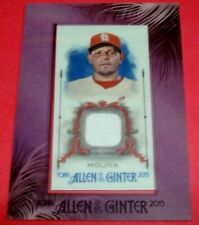 2015 Topps Allen & Ginter #FMR-YM Yadier Molina Mini Framed Game Worn Jersey