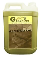 SWEET ALMOND OIL GERONIMO PREMIUM Cold Pressed Natural 5L Carrier/Base 5 Litre