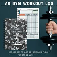 Gym Workout/Log Book/ Diary/ Males/ Fitness/Training/Journal/Reps/Weights/Men GS