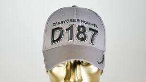 """D187 Zerstörer """"ROMMEL"""" Mütze, Basecap, Marinegrau D187"""
