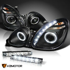 For 98-05 GS300 GS400 GS430 Black Halo SMD LED Projector Headlights PAIR