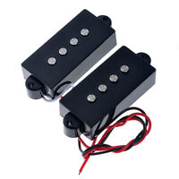 Belcat Guitar Pickups for Precision PB Bass Guitar Black 4 String