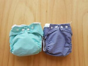 2x BAMBOOTY Easy Dry + Night SIZE L Cloth Nappies  MCN Nappy Diaper hardly worn