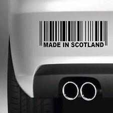 MADE IN SCOTLAND BUMPER STICKER FUNNY CAR WINDOW PAINTWORK STICKER VINYL DECAL