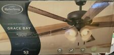 Harbor Breeze Grace Bay 52-in Bronze Led Indoor Ceiling Fan with Light Kit (5-Bl