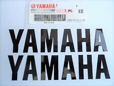 2 x Yamaha BLACK Tank Sticker Decal YZF R1 R6 Fazer  ** GENUINE  & UK STOCK **