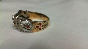 10KT Gold Masonic Mystic Shrine Ring Size 11